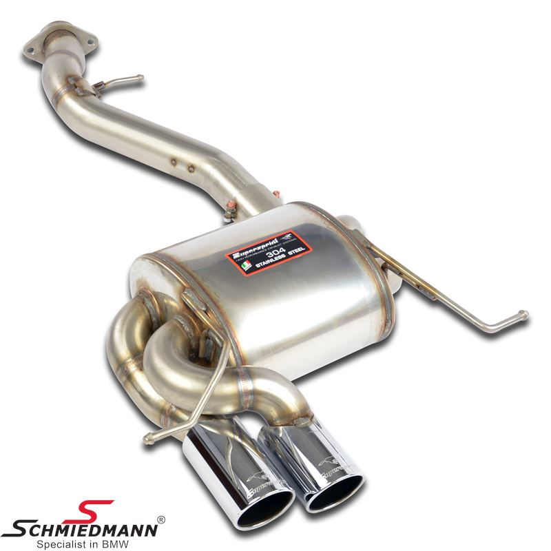 Supersprint Rear exhaust OO80For M-Sport rear bumper