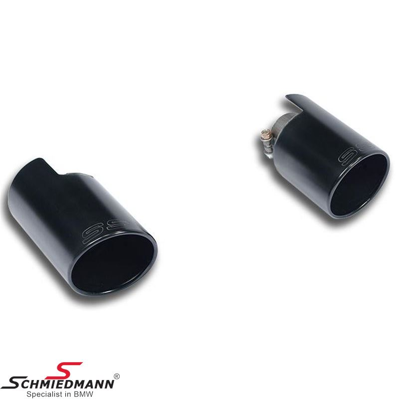"Supersprint Endpipe kit Right O100 - Left O100 ""Black"""