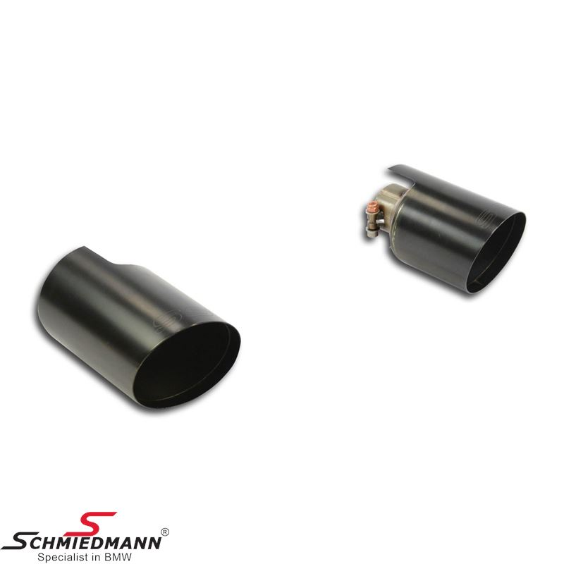"Supersprint Endpipe kit ""Race"" Black Right O100 - Left O100"