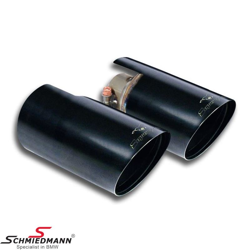 "Supersprint Endpipes kit Right - Left ""Racing"" Black O90"