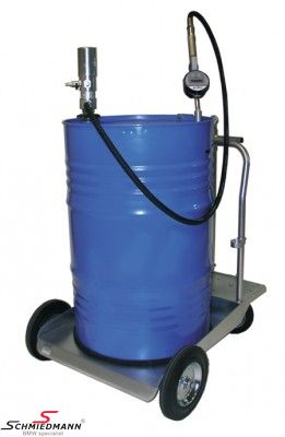 Transportable oiltaping system with pneumatic pump (driven by airpressure) for 208L barrel please see the description