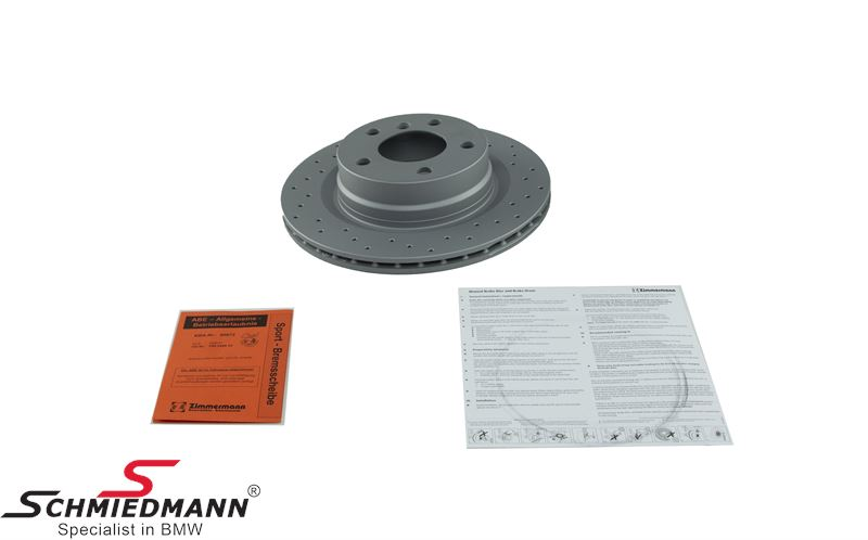 Racing brake disc rear 300X20MM ventilated with holes Zimmermann