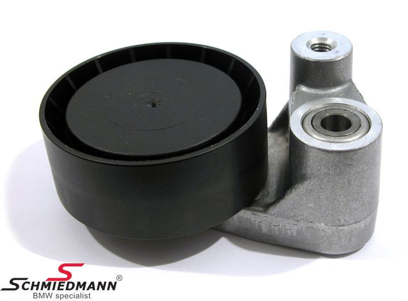 Belt tensioner wheel with holder aircondition