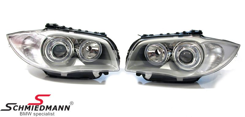 Headlights angel eyes facelift look with rings / white indicators