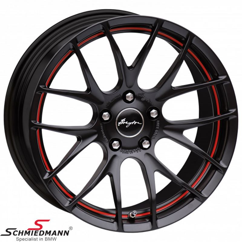 Breyton Race GTS-R Matt Black with Red Undercut Area 7,0 X 17""