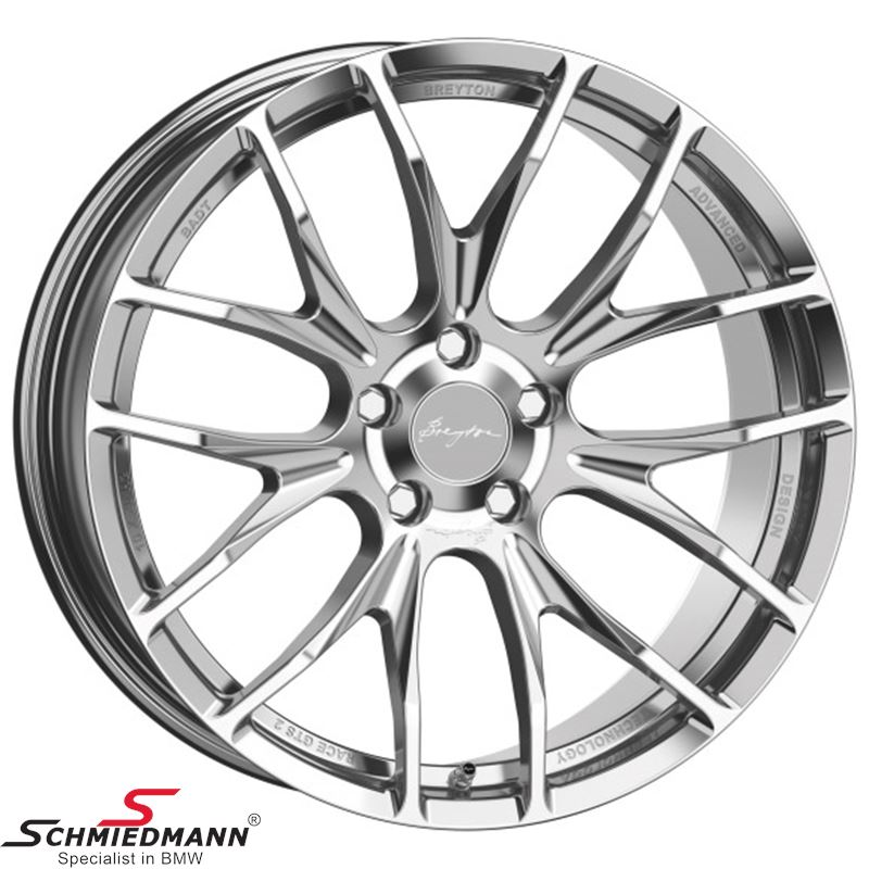 "Breyton Race GTS 2 Hyper Silver 9,5 X 19"""