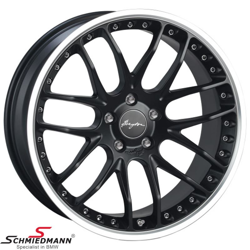 Breyton Race GTP Matt Black with Polished Lip 9,5 X 19""