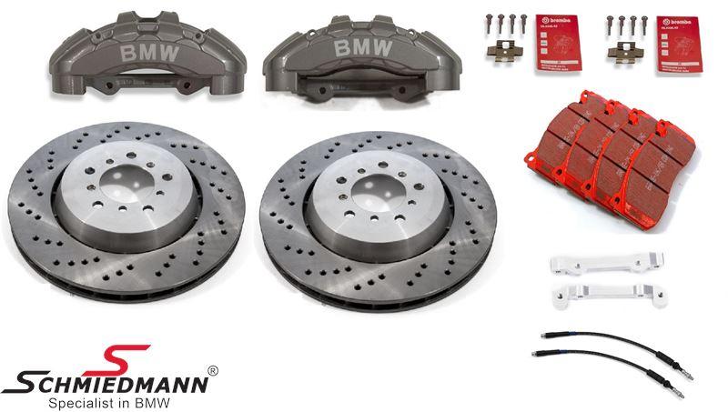 Schmiedmann -S-Tech.- racerbremse-sæt for 345X28MM 6 stemplede kalibre