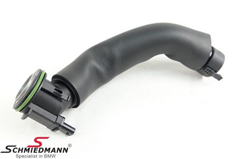 Engine crankcase breather hose