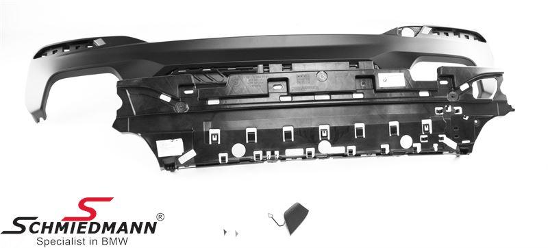 Blende Stoßfänger hinten M-Performance schwarz matt für M-Technic Heckschürze