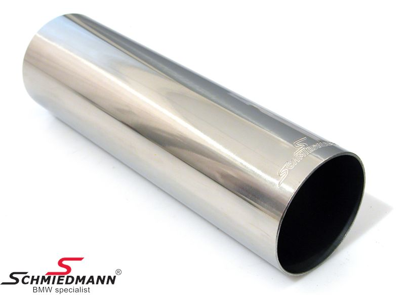 Schmiedmann tailpipe round cut straight with embossed logo D=70MM L=230MM