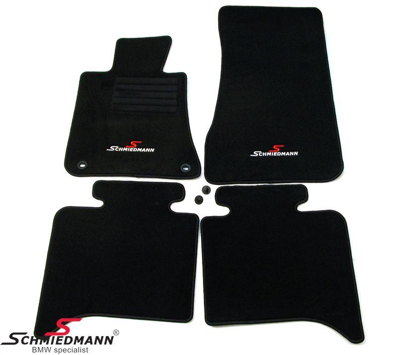 BMW E28 Fussmatten vorne/hinten original Schmiedmann -Sport Edition- schwarz