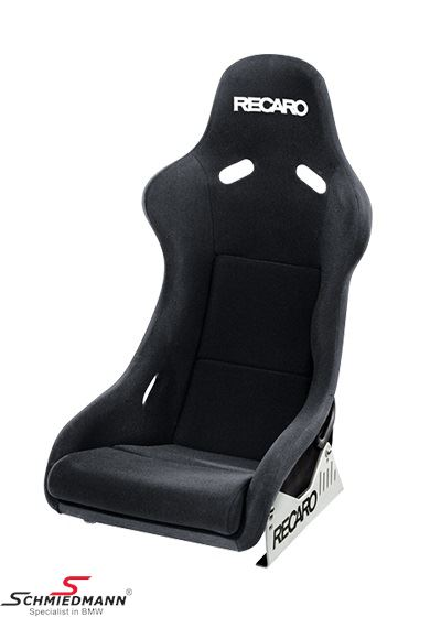 Sportsæde Recaro -Pole Position- (super letvægt/carbon) sort velour/carbon passer i H.- eller V.-side