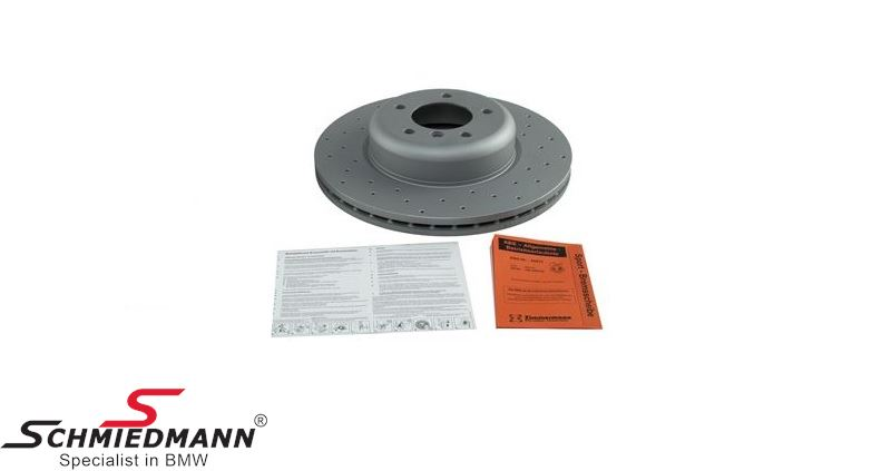 Racing brake discs front 338X26MM ventilated with holes - Zimmermann (For models with M-Performance brakes)