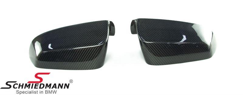 Sidemirror cover set genuine carbon R.+L.-side