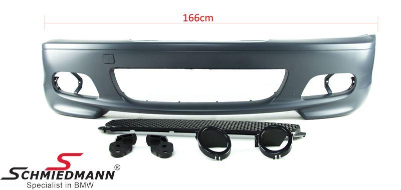 Frontspoiler Motorsport II Design OHNE Nebelscheinwerfer/Bremsluftführungen, Adapter