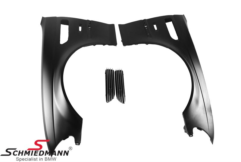 Front fender 4D (metal) with air intake kit