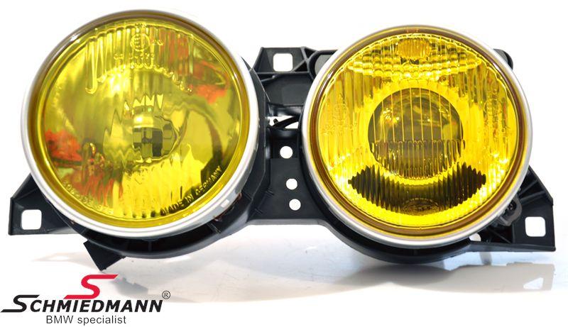 Forlygte-sæt gult nær+fjernlygte original BMW V.-side