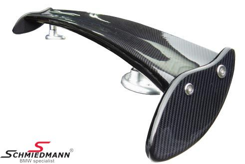 Rear ving -Downforce- genuine carbon with alloy holders
