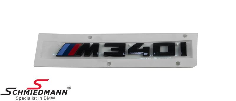 "Emblem trunk lid ""M340I"" Black painted - Original BMW"