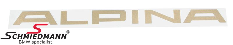 Alpina logo klistermærke original Alpina -guld- L= 360MM