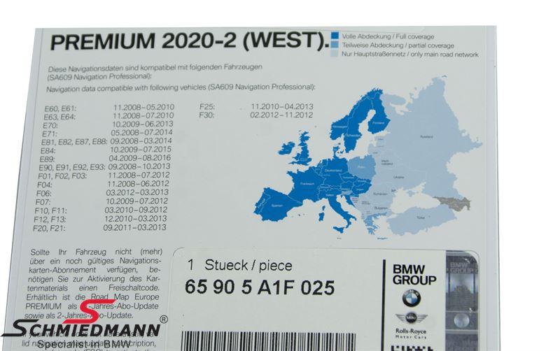 Navigation Professional update-USB Premium Europe 2020-2 West