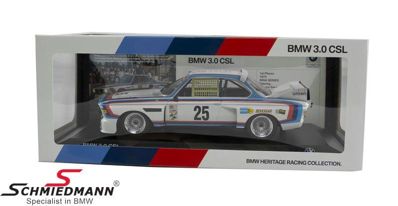 BMW miniature 3.0 CSL Motorsport 1:18