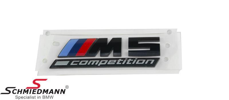 "Emblem trunk lid ""M5 Competiton"" Black - Original BMW"