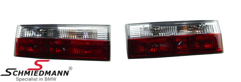 Taillight set red/white