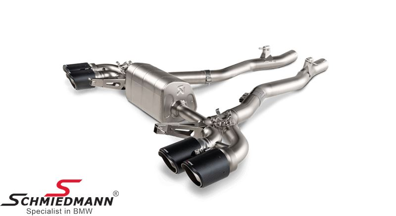 Akrapovic Slip-on lightweight titanium exhaust with 4X100MM carbon tailpipes