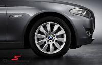"18"" Turbinenstyling 329 originale BMW alufælge m.245/45/18 Runflat Dunlop SP Wintersport 3D ROF vinterdæk"