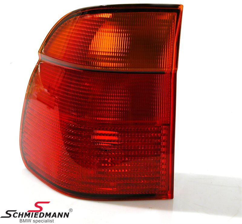 Taillight standard outer part with yellow indicator L.-side
