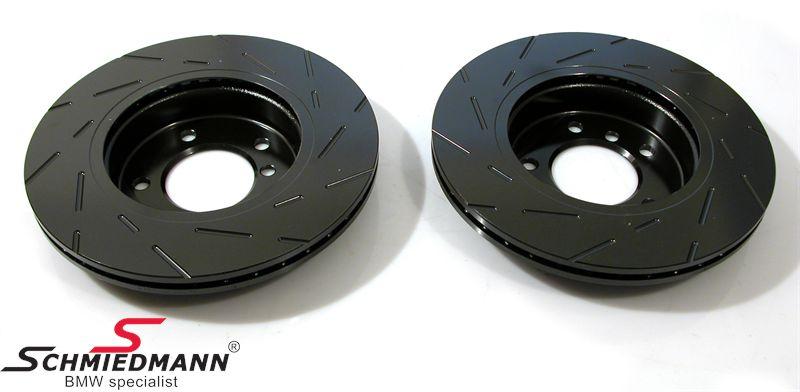 Racerbremse-skiver for sæt 300X22MM ventilerede m. riller EBC Ultimax BlackDash