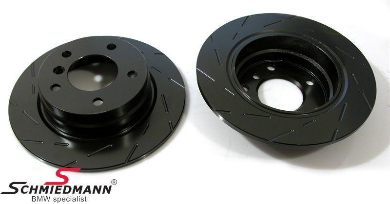 Racing brake discs rear set 280X10MM solid slotted EBC Ultimax BlackDash
