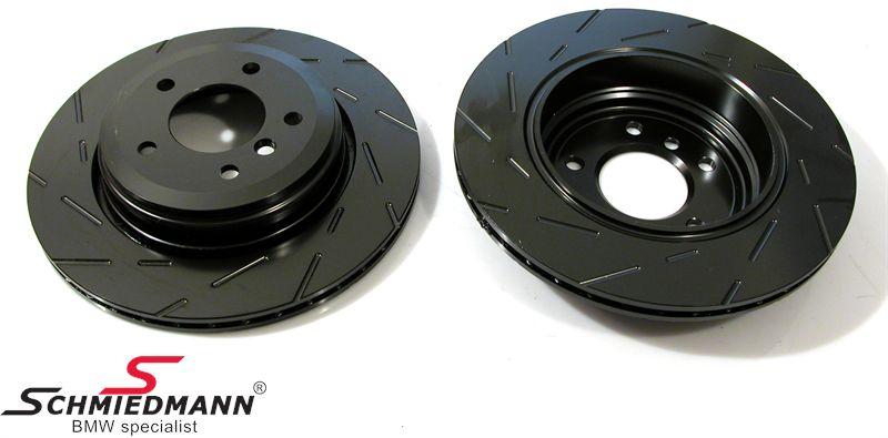 Racerbremse-skiver for sæt 315X28MM ventilerede m. riller EBC Ultimax BlackDash