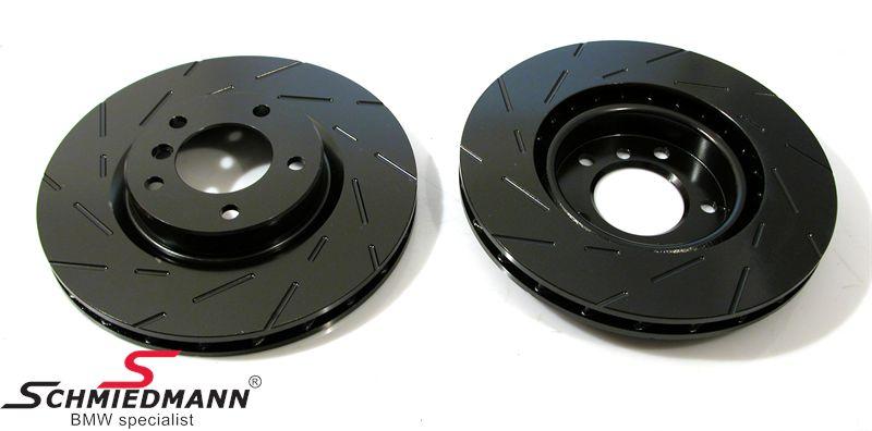 Racerbremse-skiver for sæt 310X24MM ventilerede m. riller EBC Ultimax BlackDash