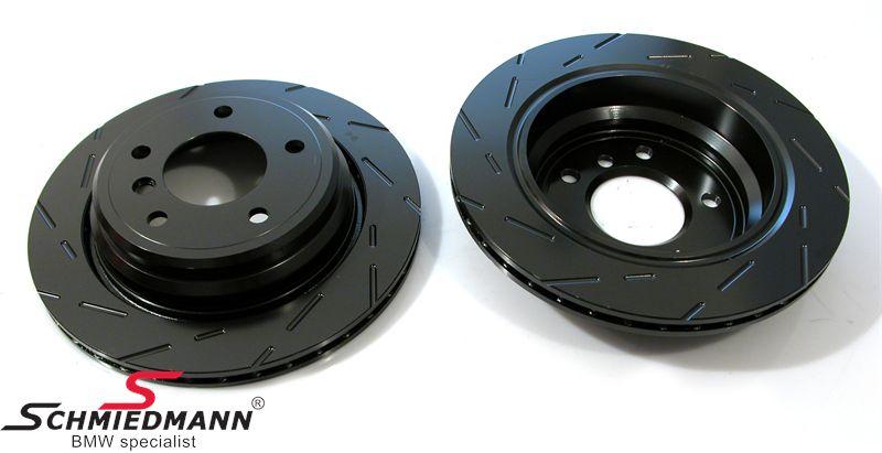 Racerbremse-skiver for sæt 325X25MM ventilerede m. riller EBC Ultimax BlackDash
