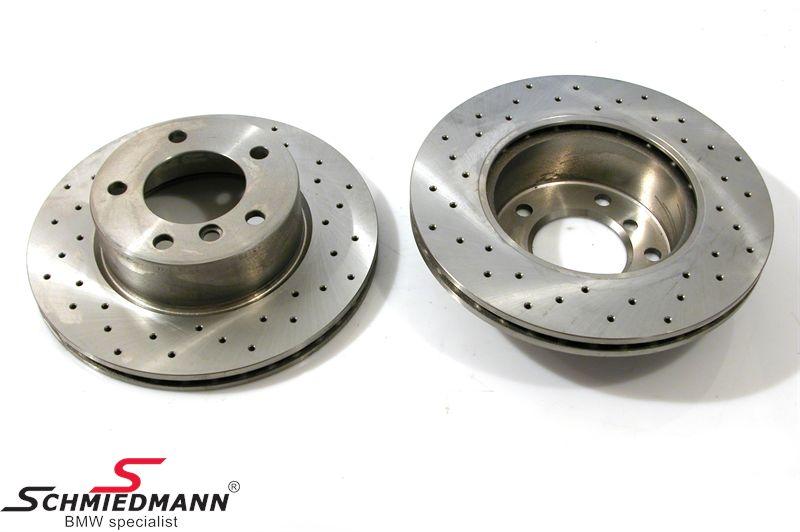 Racerbremse-skiver for sæt 284X22MM ventilerede m.huller Zimmermann