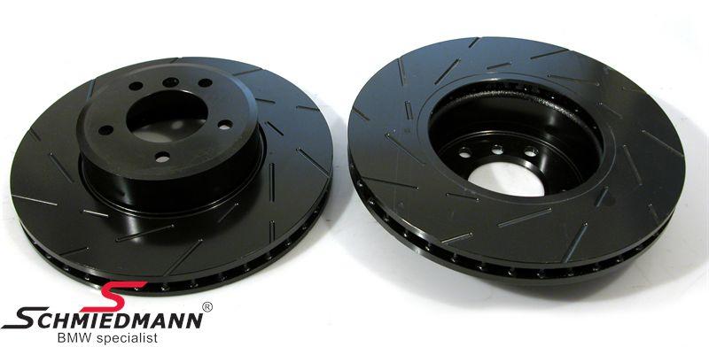Racerbremse-skiver for sæt 324X30MM ventilerede m. riller EBC Ultimax BlackDash