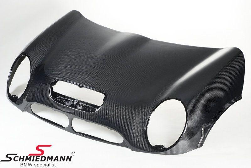 Motorhjelm ægte carbon