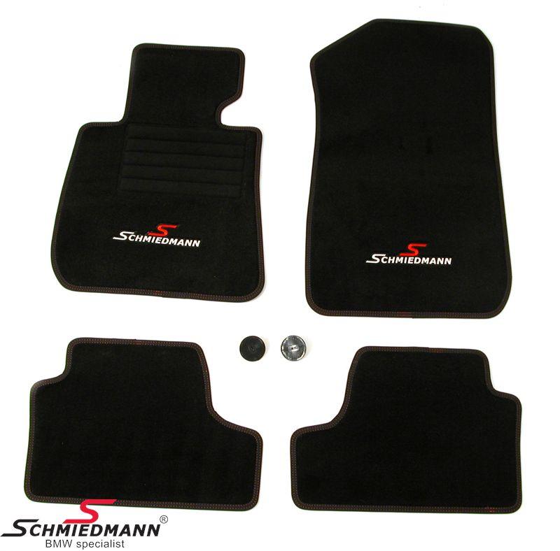 Fussmatten vorne/hinten original Schmiedmann -Sport EVO- schwarz