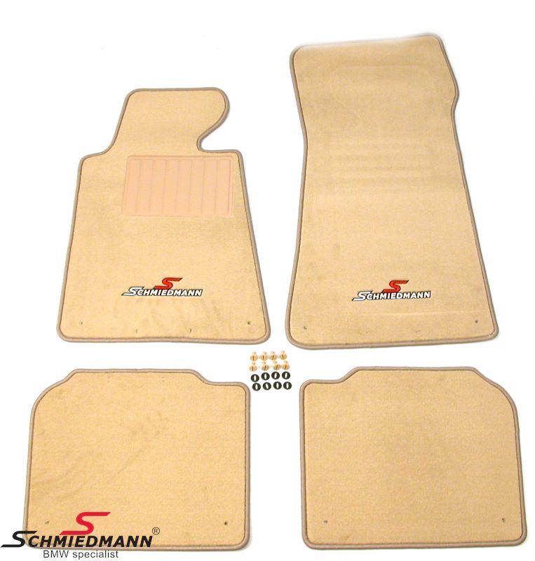 Floormats front/rear original Schmiedmann -Sport Edition- beige