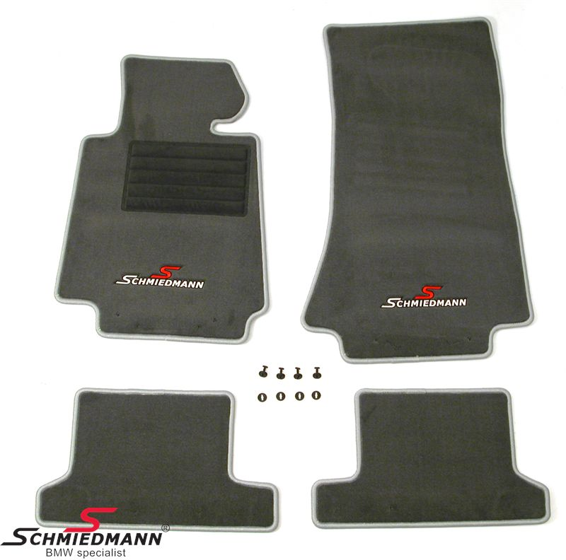 Floormats front/rear original Schmiedmann -Sport Edition- grey