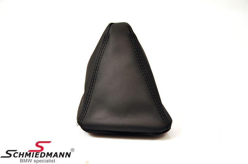 Gearmanchette ægte læder manuel gear sort