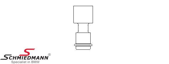 Circular connector for spark plug socket