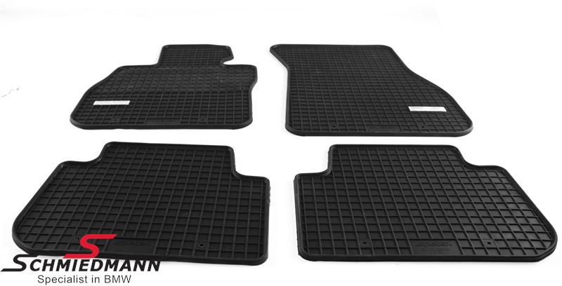 Schmiedmann -Exclusive- rubber floor mat set front/rear black
