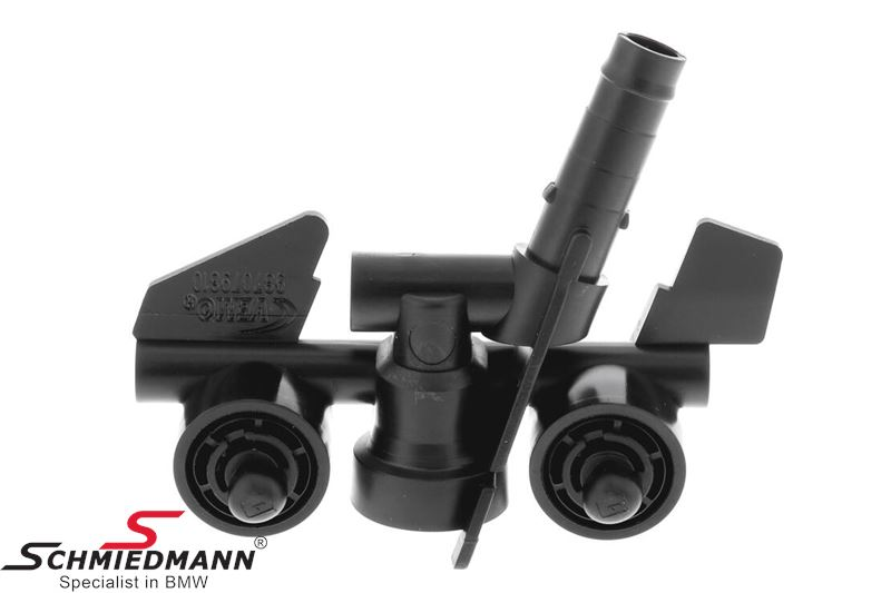 Washer nozzle for headlight cleaning system fits L.-side