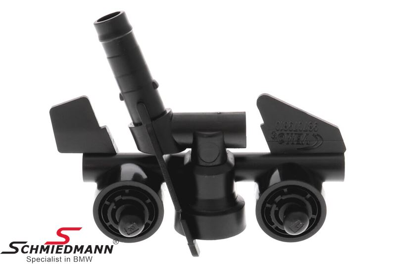 Washer nozzle for headlight cleaning system fits R.-side