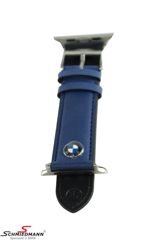 BMW Watch strap for Apple Watches - Blue leather