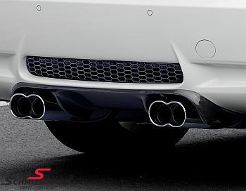 AC Schnitzer sport rear silencers with flat/oval chromium-plated -Racing- tailpipes